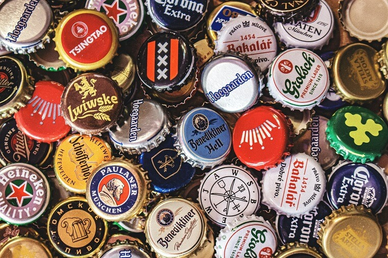 A large set of beer caps