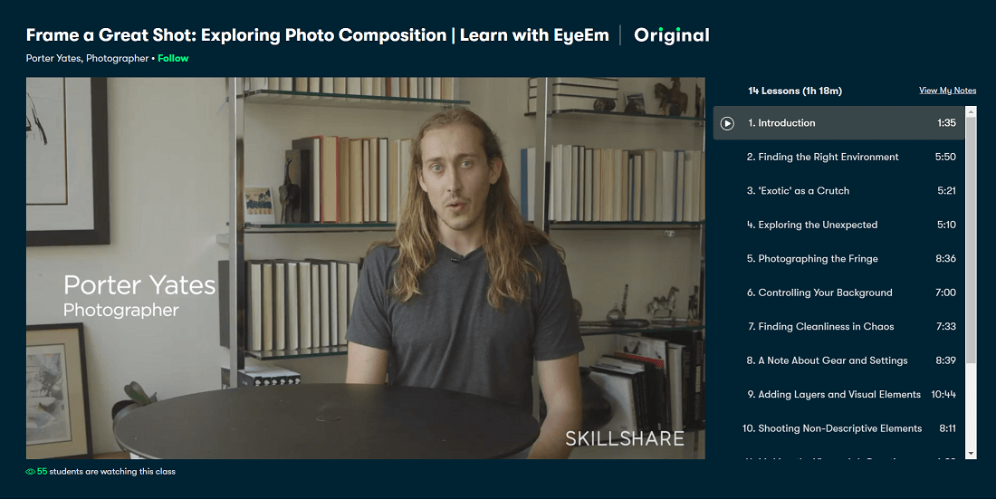 A still from the Skillshare course 'Frame a Great Shot: Exploring Photo Composition   Learn with EyeEm'
